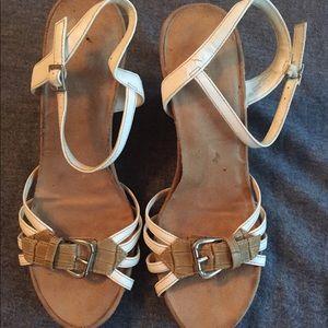 Aerosoles Plush Around Cork Wedge Heel Sandal